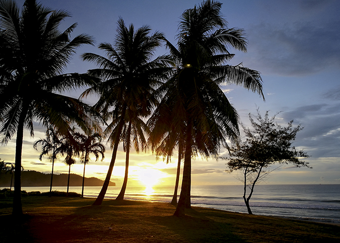 Malesia auringonlasku